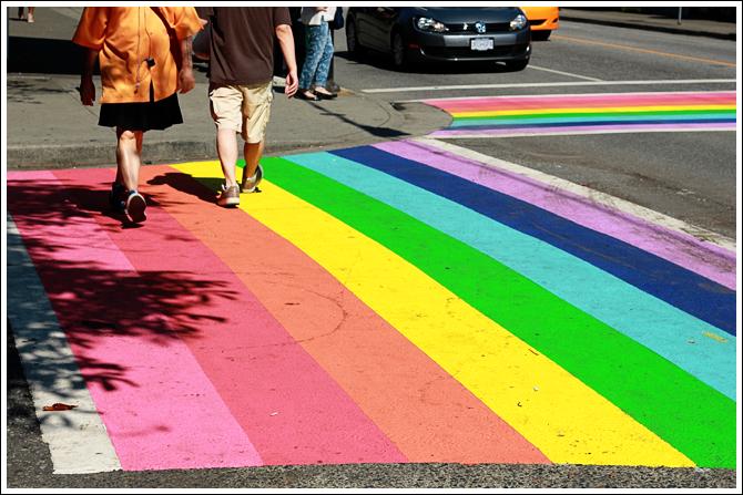 Vancouver Rainbow Crosswalk